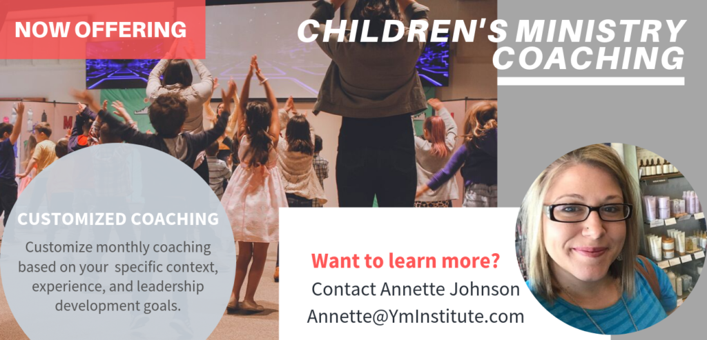 Learn about Children's Ministry Coaching.