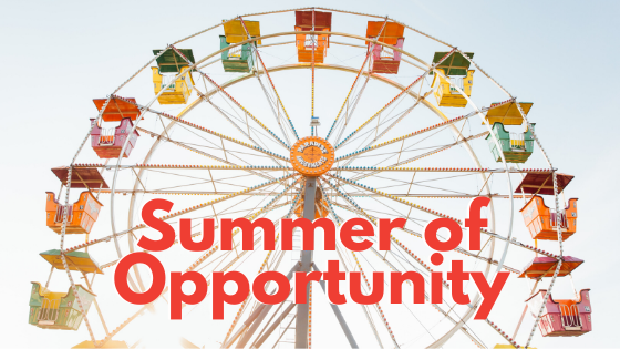 A summer image for an article about a summer of opportunity