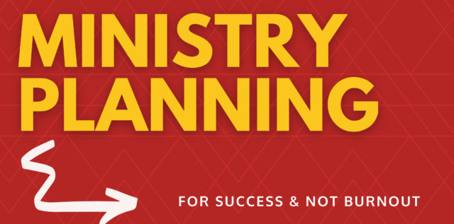 Ministry Planning for success blog banner