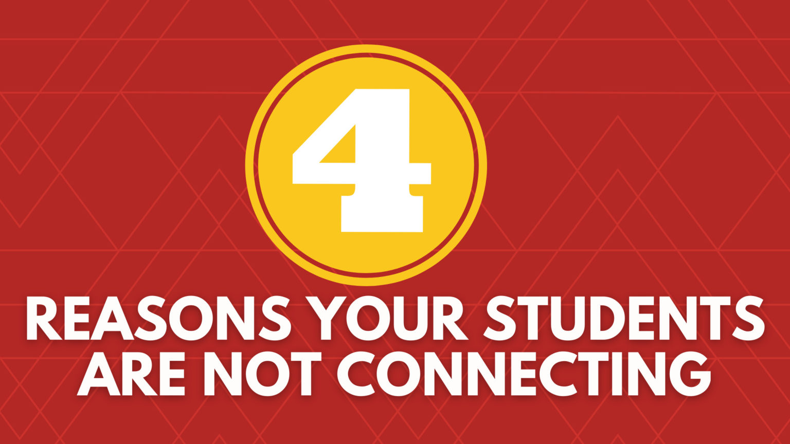 students are not connecting